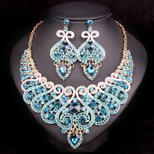 jewelry sets fashion bridal jewelry sets wedding engagement necklace earring for