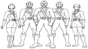mighty morphin power rangers colouring pages images collage mister