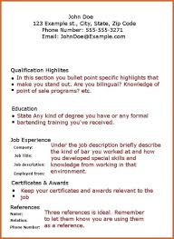 Qualification Resume Bartender Resume Skills Resume Name