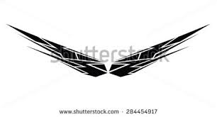 tattoo tribal wings designs vector sketch stock vector 284454917