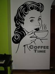 coffee time kitchen wall art sticker decorative wall decals