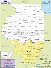 Illinois State Map 618 Area Code Map Where Is 618 Area Code In Illinois