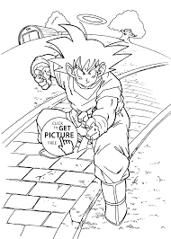 dragon ball z coloring pages for kids printable free coloing