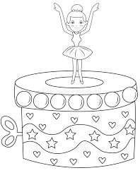 Ballerina Music Box Coloring Page Stock Illustration Image 53482163 Box Coloring Pages