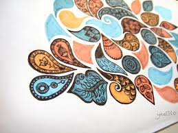 organic zentangle design in color by yael360 on deviantart my