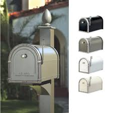 coronado mailbox with decorative post by architectural mailboxes