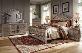 upholstered bedroom set ashley birlanny silver 4 piece queen upholstered bedroom set