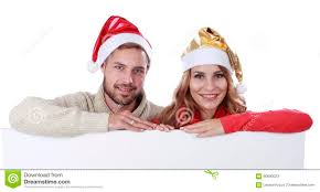 attractive couple with santa hat stock image image 60890023