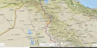 map of irak magnitude 7 3 earthquake iran iraq border