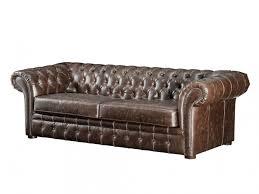 canap croute de cuir canapé 7 places et fauteuil chesterfield clotaire en croûte de cuir