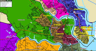 Charleston Sc Map Map Of West Ashley And Peninsula Charleston Middle Schools