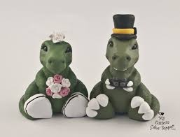 dinosaur wedding cake topper and wedding cake toppers my custom cake topper