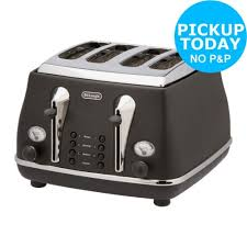 Argos Toasters 2 Slice Bosch Tat86104gb 2 Slice Styline Wide Slot Toaster 860w Black 860w