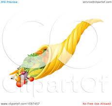 thanksgiving cornucopia clipart clipart 3d cornucopia horn with harvest produce royalty free
