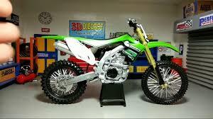 diecast motocross bikes newray 1 12 kawasaki kx 450f youtube
