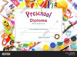 preschool diploma preschool diploma image photo bigstock