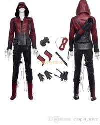 Green Arrow Halloween Costume Green Arrow Cosplay Red Arrow Thea Quinn Cosplay Costume Red Arrow