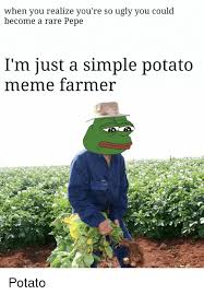 Farmer Meme - when you realize you re so ugly you could become a rare pepe i m