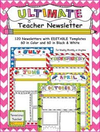 templates for newsletters each week different students could