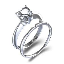 Heart Shaped Wedding Rings by 2 Ctw Romantic Heart Shaped Wedding Set In 14k White Gold
