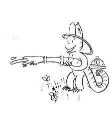 curious george fireman coloring sheet fire safety education