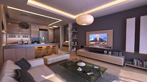interior beautiful living room and kitchen color schemes design