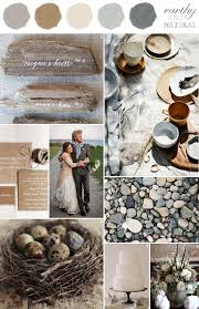 wedding colors combination earthy and natural grey slate brown