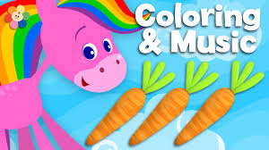 food coloring and music rainbow horse babyfirst tv youtube