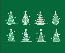 cartoon christmas tree simple vector art u0026 graphics freevector com