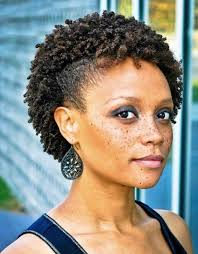 short black hair styles that have been shaved side shaved pixie cut afro short black curly hairstyles