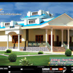 Kerala House Single Floor Plans With Elevations Traditional Style Kerala House Elevation Plan Building Plans