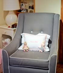 Wooden Rocking Chairs Nursery by Chic Design Ideas Using Rectangular Brown Wooden Rocking Chairs In