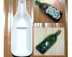 wine bottle serving dish stoneware ceramic slump mold for a snack n dip wine bottle