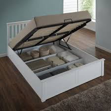 Ottoman Storage Beds Buy Happy Beds Wooden Ottoman Storage Bed White From Our