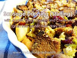 sausage dressing with apples dried cherries and