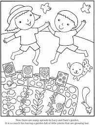 colouring picture garden gardening coloring page free my garden