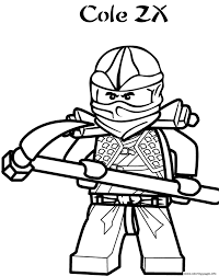 ninjago s cole zxfb67 coloring pages printable
