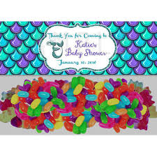 mermaid baby shower ideas mermaid baby shower party favors candy from partyprintexpress on