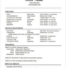 Acting Resume Special Skills Film Resume Sample Skillful Film Production Assistant Resume With