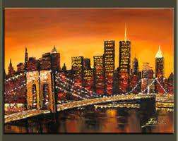 original oil paintingchrysler building paintingnew york city