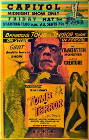 vintage horror poster vintage ocd frankenstein u0026 his monster