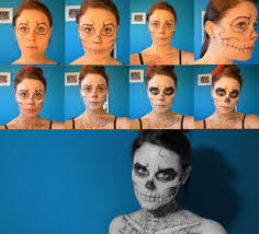 skeleton halloween makeup 3 steps