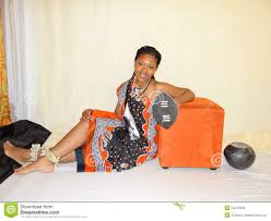 swazi woman in traditional attire stock photo image 44723333