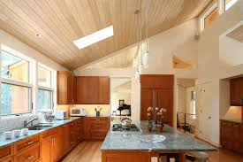 White Tile Kitchen Table by Vaulted Ceiling In Kitchen Rectangle Brown Gloss Kitchen Table Two