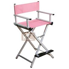 Makeup Chairs For Professional Makeup Artists Durable Portable Metal Artist Beauty Chair Aluminum Canvas Folding