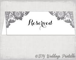 Table Card Template by Reserved Card Template Flower Burst Printable