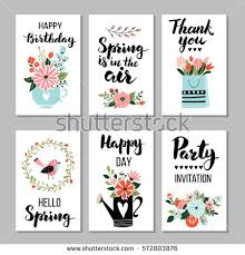 card set quotes calligraphy stock vector 572803876