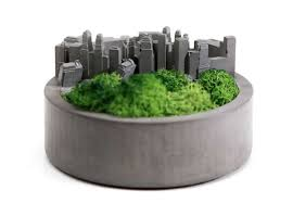 handmade concrete architectural succulent planter plant pot