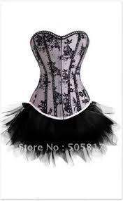 Black Corset Halloween Costume Size Overbust Corset Skirt Burlesque Moulin Rouge Costume