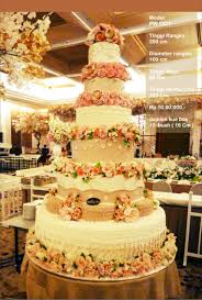 wedding cake 7 tiers by pelangi cake bridestory